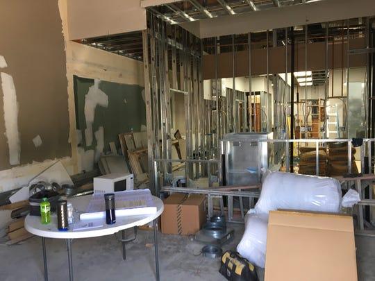Paris Banh Mi Sandwiches is under construction at a former Starbucks in Ventura's Victoria Village shopping center.