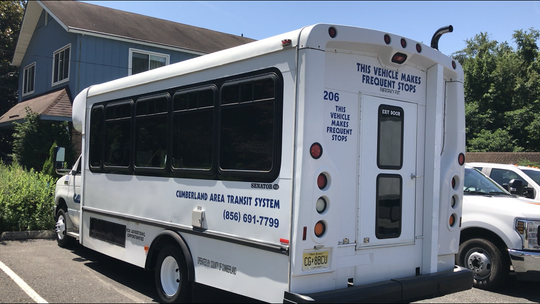 Cumberland County is refitting this bus into a `Recovery on Wheels mobile unit,' with a mission directed at substance abuse treatment. The bus, seen here at Designer Wraps in Glassboro, is expected to be ready in August.