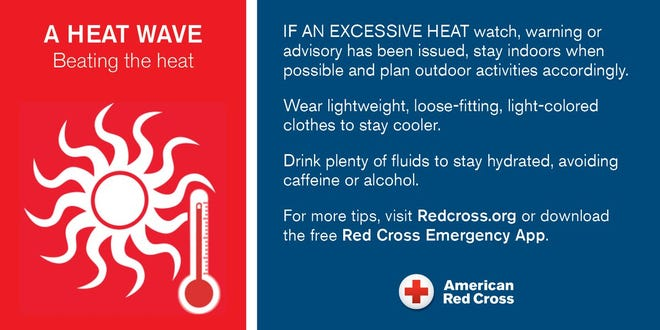 The southeast chapter of American Red Cross issues a heat advisory warning