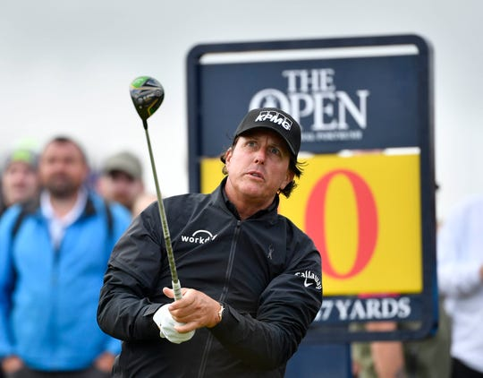 Phil Mickelson shot 8-over in his two rounds at the British Open.