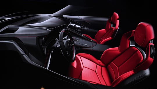 The interior of the 2020 Chevrolet Corvette.