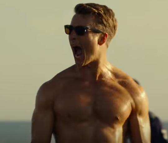 """Glen Powell in the trailer for """"Top Gun: Maverick."""""""