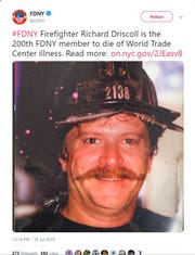 Two hundred New York City firefighters who responded at Ground Zero during the September 11th terrorist attack have died due to complications from illnesses linked to the World Trade Center.