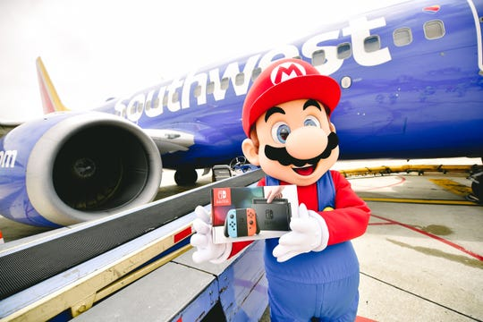 Super Mario surprised Southwest Passengers traveling from Dallas to San Diego Wednesday.