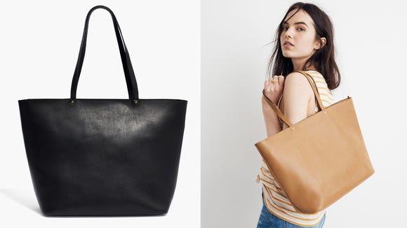 This classic tote bag just exudes elegance.