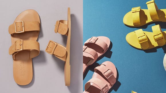 Whether you choose neutral or bright, these sandals will add a pop to whatever you're wearing.