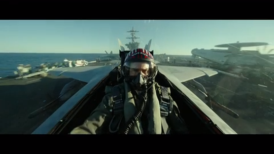 "Tom Cruise surprises Hall H at San Diego Comic-Con as the ""Top Gun: Maverick"" official trailer soars at the fan conference."
