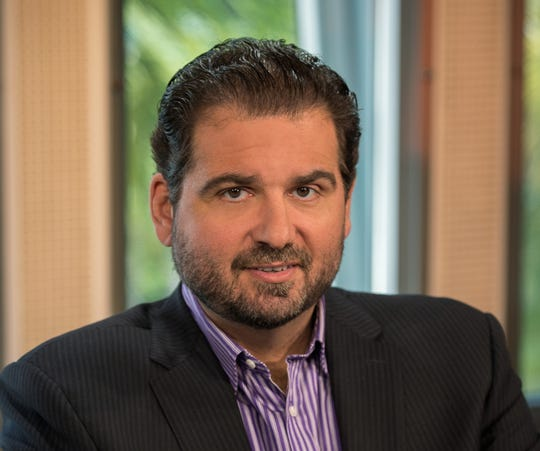 Dan Le Batard on the set of Highly Questionable.