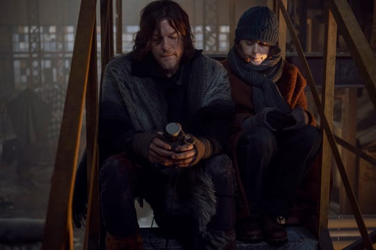 "Norman Reedus as Daryl Dixon and Melissa McBride as Carol Peletier in ""The Walking Dead."""