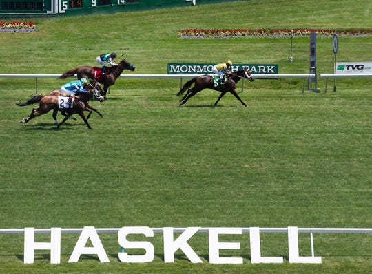 Monmouth Park has pushed its Haskell Day card back to 6 p.m., running only the stakes races.