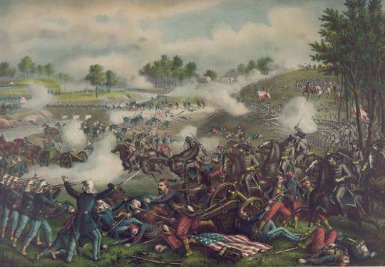 The first Battle of Bull Run at Manassas, Virginia, July 21, 1861.