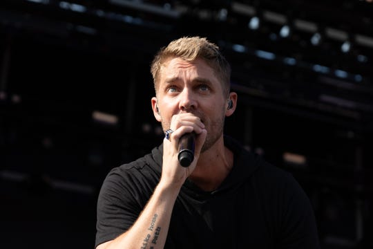 Brett Young performs during the Faster Horses festival on Friday, July 19, 2019 at Michigan International Speedway in Brooklyn.