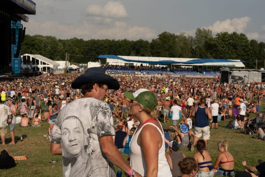 Fans at the Faster Horses festival on Friday, July 19, 2019, at Michigan International Speedway in Brooklyn.