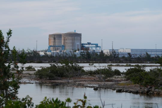 Cooling canals next to the Turkey Point Nuclear Generating Station are shown, Friday, July 19, 2019, in Homestead, Fla. The 168-miles of man-made canals serve as the home to several hundred crocodiles, where a team of specialists working for Florida Power and Light (FPL) monitors and protects the American crocodiles.
