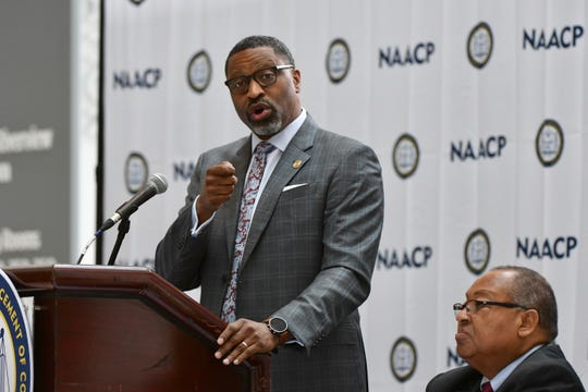 "NAACP President Derrick Johnson said a ""xenophobic and racist climate (is) germinating from the White House,"" citing recent controversial remarks from President Donald Trump directed at four freshmen members of Congress including Detroit Democrat Rashida Tlaib."