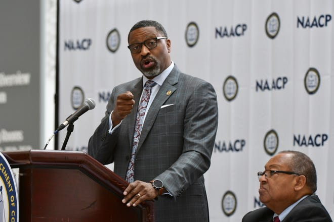 """NAACP President Derrick Johnson said a """"xenophobic and racist climate (is) germinating from the White House,"""" citingrecent controversial remarks from President Donald Trump directed at four freshmen members of Congress including Detroit Democrat Rashida Tlaib."""