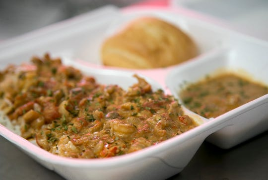 Mike CatalanÕs crawfish etouffee is a customer favorite.