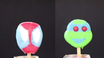 Watch cartoon character ice cream treats melt during heat wave in Green Bay.