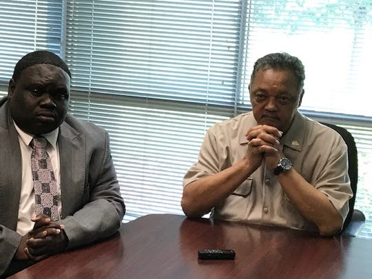 The Rev. Jesse Jackson, right, and Rev. Tevin Smith. 7/20/19