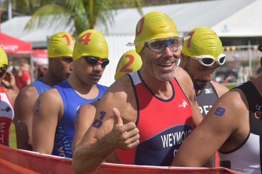 Craig Weymouth competed for Guam in the triathlon July 20 at the Pacific Games in Samoa.