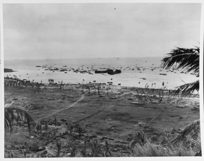 Scene on the Northern Beaches, near Asan Point, 21 July 1944