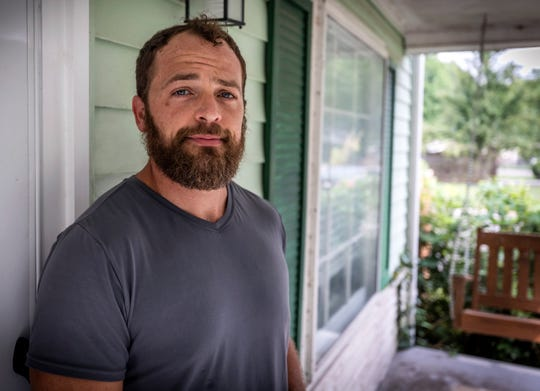 Jake Sidley outside of his home in Nashville Saturday, July 20, 2019.