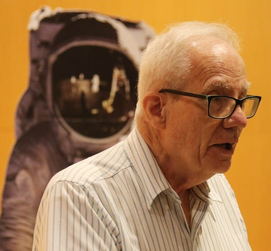 Dr. Frederick Chichester worked with the subcontractor whose mission was to develop the control system for the lunar rocket engine as Montclair hosted an Apollo 11 commemoration event on July 20, 2019 to celebrate the 50th anniversary of the moon landing when Neil Armstrong and Montclair's own Buzz Aldrin became the first men to step onto the surface of the moon.