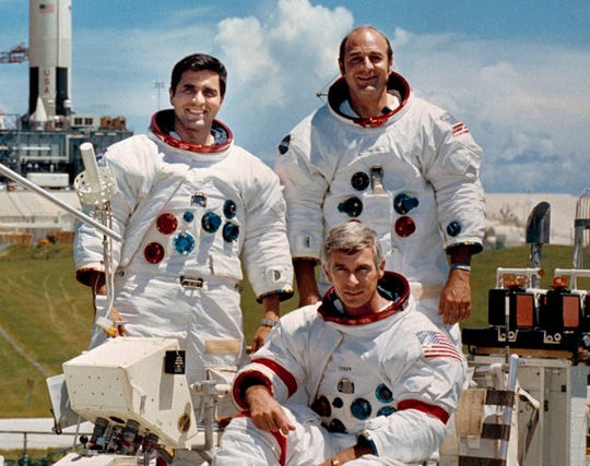 Apollo 17 crew included Commander Eugene Cernan, Lunar Module Pilot Harrison Schmitt, and Command Module Pilot Ronald Evans.
