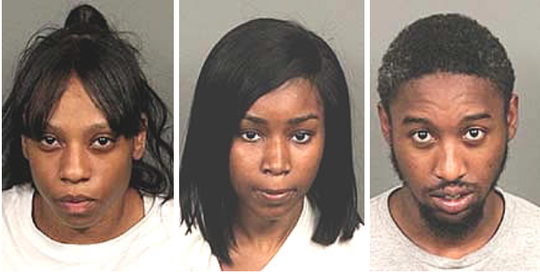 The Riverside County Sheriff's Department arrested three Brooklyn residents were arrested on suspicion of committing credit card fraud.