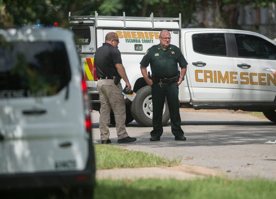 Escambia County Sheriff's Office deputies on Saturday investigate after a father reportedly shot his 3-year-old daughter and then took his own life.