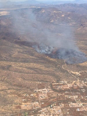 Central Fire has burned about 150 acres east of Interstate 17, between Anthem and New River.