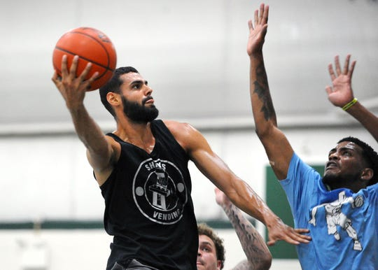 After a standout basketball career at Lebanon High and York College, Blayde Reich is now playing professionally with the Washington Generals, perennial opponent of the Harlem Globetrotters.