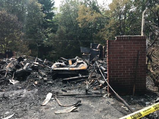 Scenes from a Rhinebeck house fire on Saturday.
