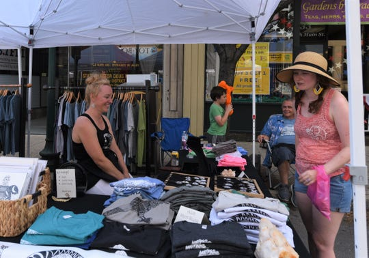 Old Market Day was held in Downtown Chambersburg on Saturday, July 20, 2019. The ChambersFest Street festival features craft and food vendors, kids' activities and music. The event was coordinated by the Downtown Business Council and sponsored by F&M Trust. Carrie Dietrich, of Chambersburg, noticed an earlier crowd than usual this year.