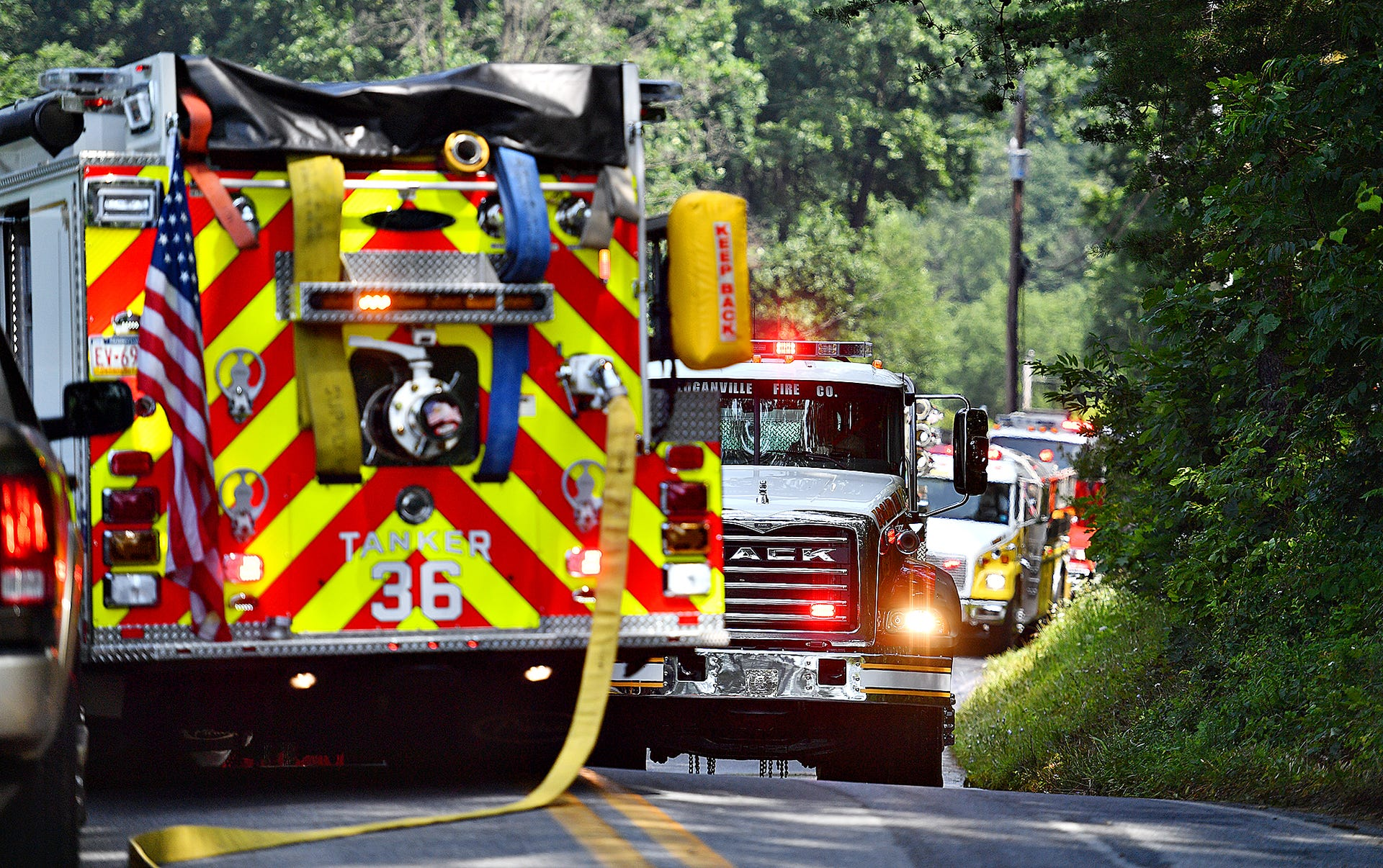 PHOTOS: Crews respond to fire on Green Springs Road in