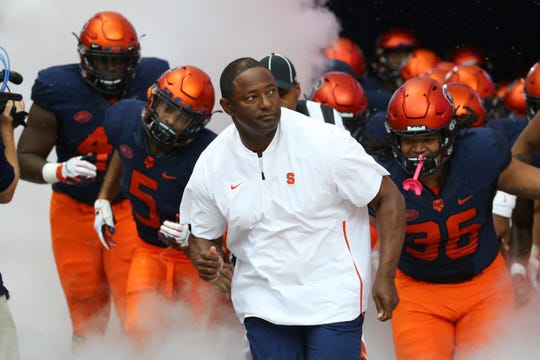 Syracuse football coach Dino Babers has retooled his staff and is eager to atone for last season's 5-7 record. But will he get a chance to charge from the dome tunnel in the fall, or have to wait until next spring?