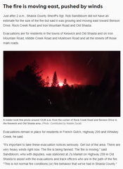 Local News Editor Jenny Espino posted this update from Shasta after a 2 a.m. interview the morning before the Carr Fire blew into Redding on Thursday, July 26, 2018.