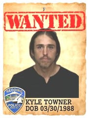 Kyle Jacob Towner Date of birth: March 30, 1988 Vitals: 5 feet, 8 inches; 180 lbs.; brown hair/green eyes Charge: Failure to appear on felony charge