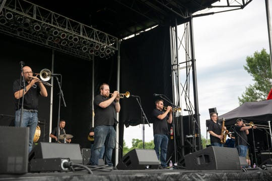 The Jack Brass Band plays a set of jazz songs at JazzFest, Saturday, July 20. JazzFest is a two day outdoor music festival that features a variety of music including jazz, blues, latin, reggae and rock among other genres.