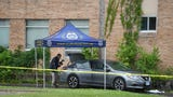 Investigators working crime scene near St. Cloud City Hall Saturday morning