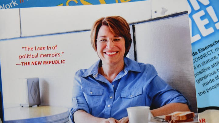 What can we learn about presidential candidate Amy Klobuchar from her memoir?