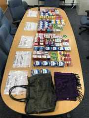 Over the counter medication confiscated from suspects.