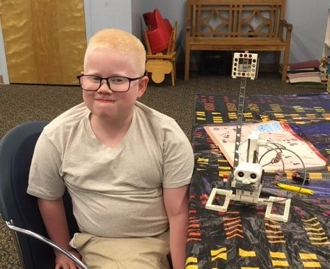 Alex Pierce, 10, of Deerfield created a robot in Robotics Club at Cumberland County Library at 800 E. Commerce St., in Bridgeton. The library offers a variety of programs for children including Monday FUNday, Wee Read, Robotics, Lego Club and Preschool Story Time. For information, call (856) 453-2210 or visit www.cclnj.org.