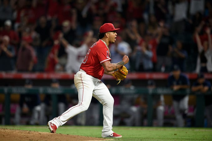 July 12, 2019: Los Angeles Angels pitcher Felix Pena and Taylor Cole combined to throw a no-hitter against the Seattle Mariners.