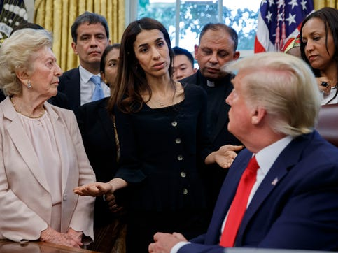 Iraqi refugee Nadia Murad to Trump: ISIS killed family. Trump responds: 'Where are they now?'