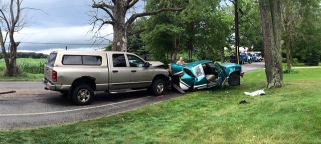 Three hurt in Emmett Township Saturday.