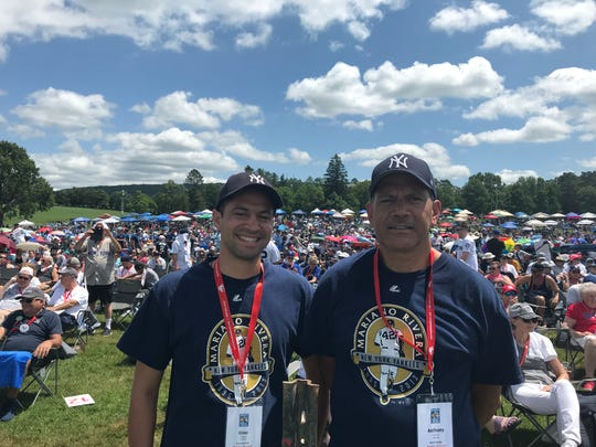 Gino, left, and Tony Altamura attend the Hall of Fame Induction Ceremony on Sunday at Clark Sports Center in Coopertown.