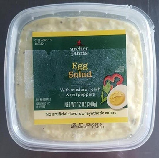 Archer Farms Egg Salad is one of several salads included in a voluntary recall by Elevation Foods.