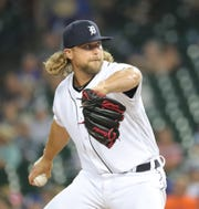 Detroit Tigers' Trevor Rosenthal against the Toronto Blue Jays during the eighth inning Saturday, July 20, 2019 at Comerica Park.