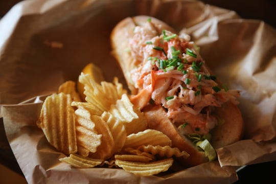 "The lobster is flown in fresh daily from Maine during ""Lobstah Roll Week"" at Mudgie's Deli in Detroit's Corktown neighborhood."